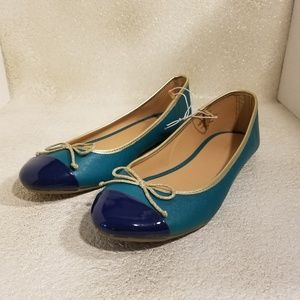 NWOT Old Navy Real Teal flats